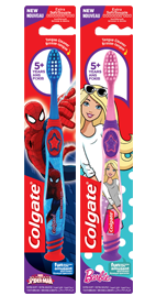 Colgate<sup>®</sup> Kid's 5+yrs Spiderman<sup>™</sup>/Barbie<sup>™</sup> Toothbrush